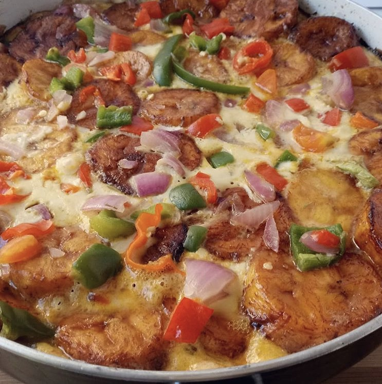 Plantain Frittata recipe by @tspice_kitchen.